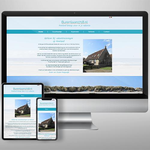 Webdesign Burenlaan 17118 Ameland