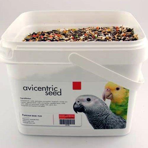 Productlabel AviCentric V.O.F. | Papegaaienvoer Premium Papegaai Basic emmer 2kg.