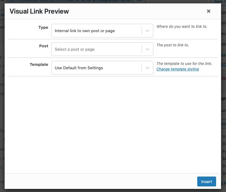 Visuele link preview plug-in gebruiken met de klassieke editor