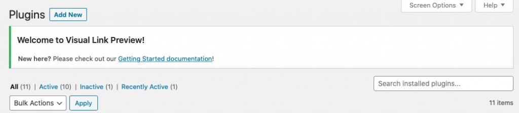 Welkom bij de Visual Link Preview Plug-in